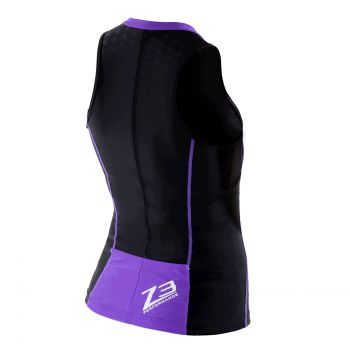 Aquaflo Triathlon Top Damen - Zone3 - schwarz/lila