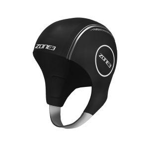 Neopren Schwimmkappe unisex - Zone3 - schwarz/silber