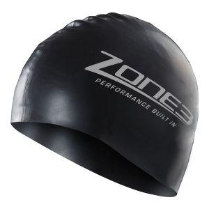 Silikon Schwimmkappe - unisex - Zone3 - schwarz