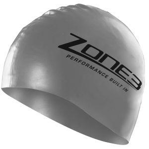 Silikon Schwimmkappe - unisex - Zone3 - silber