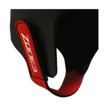 Neopren Schwimmkappe unisex - Zone3 - schwarz/rot