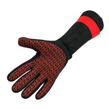 Neopren Schwimmhandschuhe unisex - Zone3 - schwarz/rot
