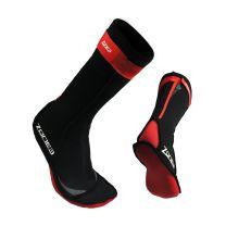 Neopren Schwimmsocken unisex - Zone3 - schwarz/rot