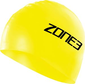 Silikon Schwimmkappe - unisex - Zone3 - neongelb