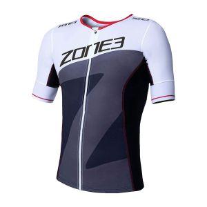 Lava Tri Top Short Sleeve Herren - Zone3 - schwarz/weiß/rot