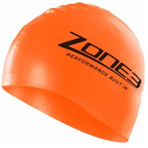 Silikon Schwimmkappe - unisex - Zone3 - orange